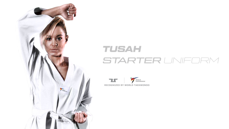 /Deportes de Lucha Traje por el World Vendaje Taekwondo Aprobado Tusah Traje de Taekwondo Starter/ /TKD Dobok/ /Parte Superior con inscripci/ón Taekwondo/